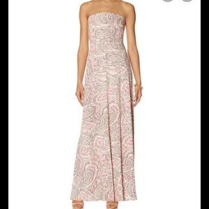 The Limited paisley print strapless maxi dress